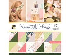 609068 Set 36 papeles doble cara Stack Fairytale Floral DCWV