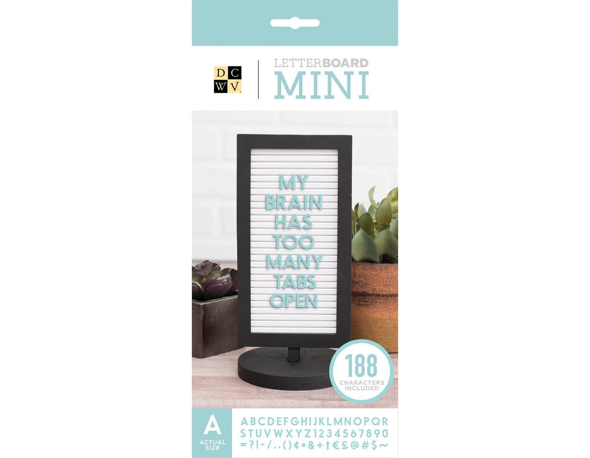 609089 Tablero de mesa con letras Mini Tabletop Black DCWV