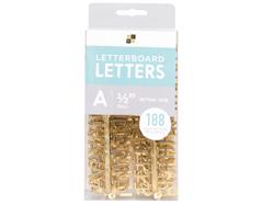 609090 Set 188 letras Letter Pack Gold para Letter Board DCWV