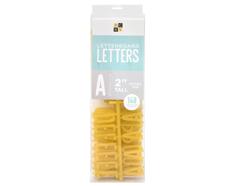 609095 Set 148 letras Premium Letter Pack Gold Glitter para Letter Board DCWV