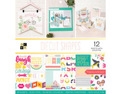 614318 Set 36 papeles doble cara Stack Diecut Shapes DCWV