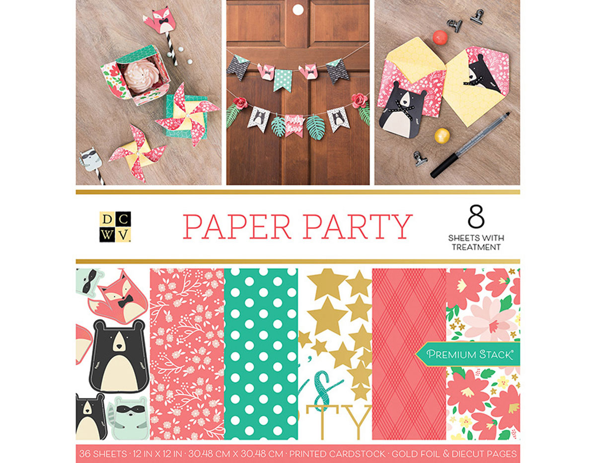 614322 Set 36 papeles doble cara Stack Paper Party DCWV