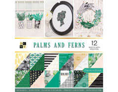 614337 Set 36 papeles doble cara Stack Palms and Ferns DCWV