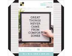 614563 Tablero con 188 letras Letter Board Black and White DCWV