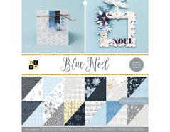 614658 Set 32 papeles glitter doble cara Stack Blue Noel DCWV