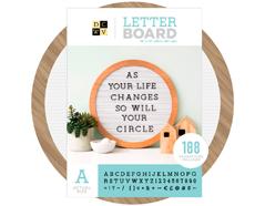 614834 Tablero con 188 letras Letter Board Wood Circular Frame DCWV