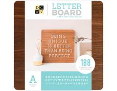 614837 Tablero sin marco con 188 letras Letter Board Dark Wood DCWV