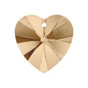 A6228-001-10X10 16 6228-001-10X10 16 Colgantes de cristal Xilion Heart 6228 crystal golden shadow Swarovski Autorized Retailer