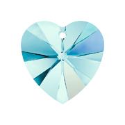 6228-202-10X10 01 A6228-202-10X10 01 Colgantes de cristal Xilion Heart 6228 aquamarine aurora boreale Swarovski Autorized Retailer