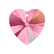 A6228-223-10X10 01 6228-223-10X10 01 Colgantes de cristal Xilion Heart 6228 light rose aurora boreale Swarovski Autorized Retailer
