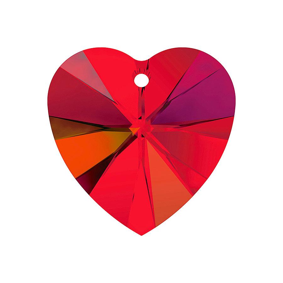 A6228-227-10X10 01 6228-227-10X10 01 Colgantes de cristal Xilion Heart 6228 light siam aurora boreale Swarovski Autorized Retailer