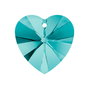 A6228-229-10X10 6228-229-10X10 Colgantes de cristal Xilion Heart 6228 blue zircon Swarovski Autorized Retailer