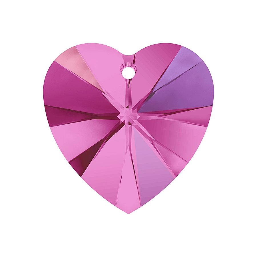 A6228-502-10X10 01 6228-502-10X10 01 Colgantes de cristal Xilion Heart 6228 fuchsia aurora boreale Swarovski Autorized Retailer