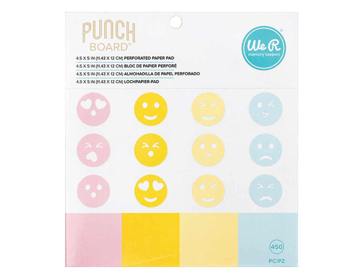 660321 Set 450 papeles Perforated Paper Pad para Emoji Punch Board We R Memory Keepers