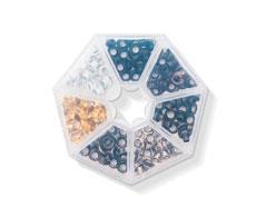 660385 Set de ojales de aluminio 7 colores metalicos WR Crop A Dile We R Memory Keepers