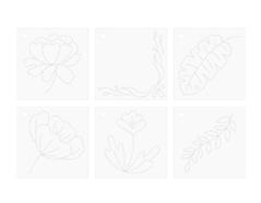 660511 Plantillas florales para realizar cosido con Stitch Happy Pen We R Memory Keepers - Ítem