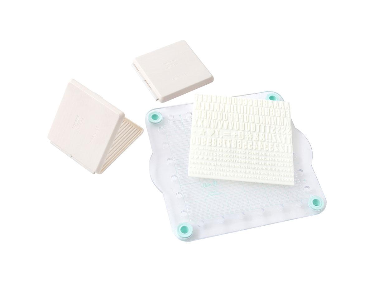 660526 Set de sellos acrilicos Abecedario imprenta para Precision Press Advanced We R Memory Keepers