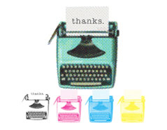 660539 Set 4 sellos CMYK Stamp Kit Typewriter We R Memory Keepers - Ítem