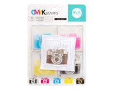 660545 Set 4 sellos CMYK Stamp Kit Camera We R Memory Keepers