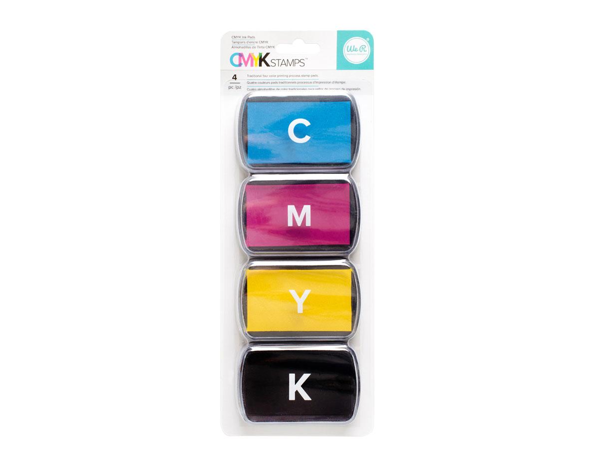 660554 Set 4 almohadillas de tinta CMYK Ink Pad Set We R Memory Keepers