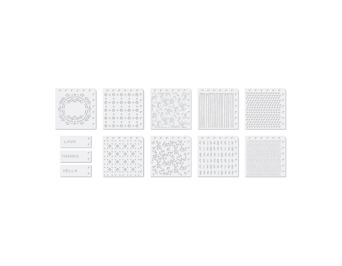 660597 Set de plantillas decorativas para Precision Press Advanced 12u We R Memory Keepers