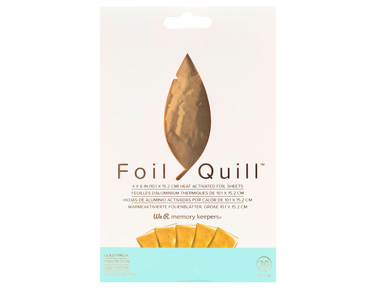 660667 Hojas de Foil oro Foil Quill Gold Finch We R Memory Keepers