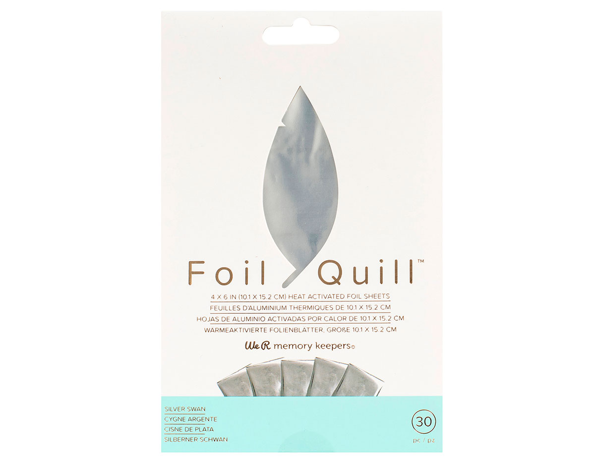 660668 Hojas de foil plata Foil Quill Silver Swan We R Memory Keepers