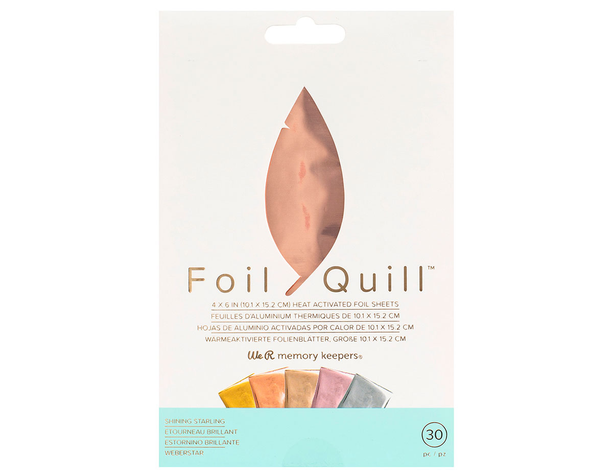 660670 Hojas de foil surtido colores pastel Foil Quill Shining Starling We R Memory Keepers