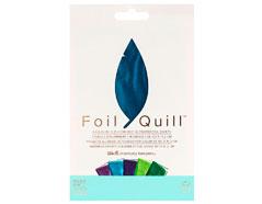 660673 Hojas de foil surtido colores frios Foil Quill Peacock We R Memory Keepers