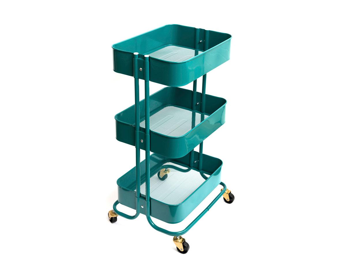 660724 Carrito metalico color verde esmeralda 3 estantes WR A La Cart We R Memory Keepers