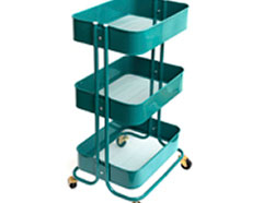 660724 Carrito metalico color verde esmeralda 3 estantes WR A La Cart We R Memory Keepers