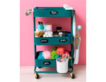 660724 Carrito metalico color verde esmeralda 3 estantes WR A La Cart We R Memory Keepers - Ítem2