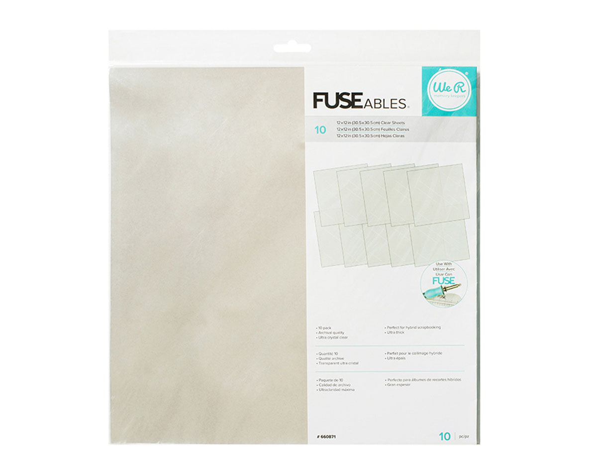 660871 Hojas transparente para FUSE Fuseable Clear Sheets We R Memory Keepers