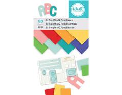 660897 Set 80 hojas de cartulina Cardstock Pad para Alphabet Punch Board We R Memory Keepers