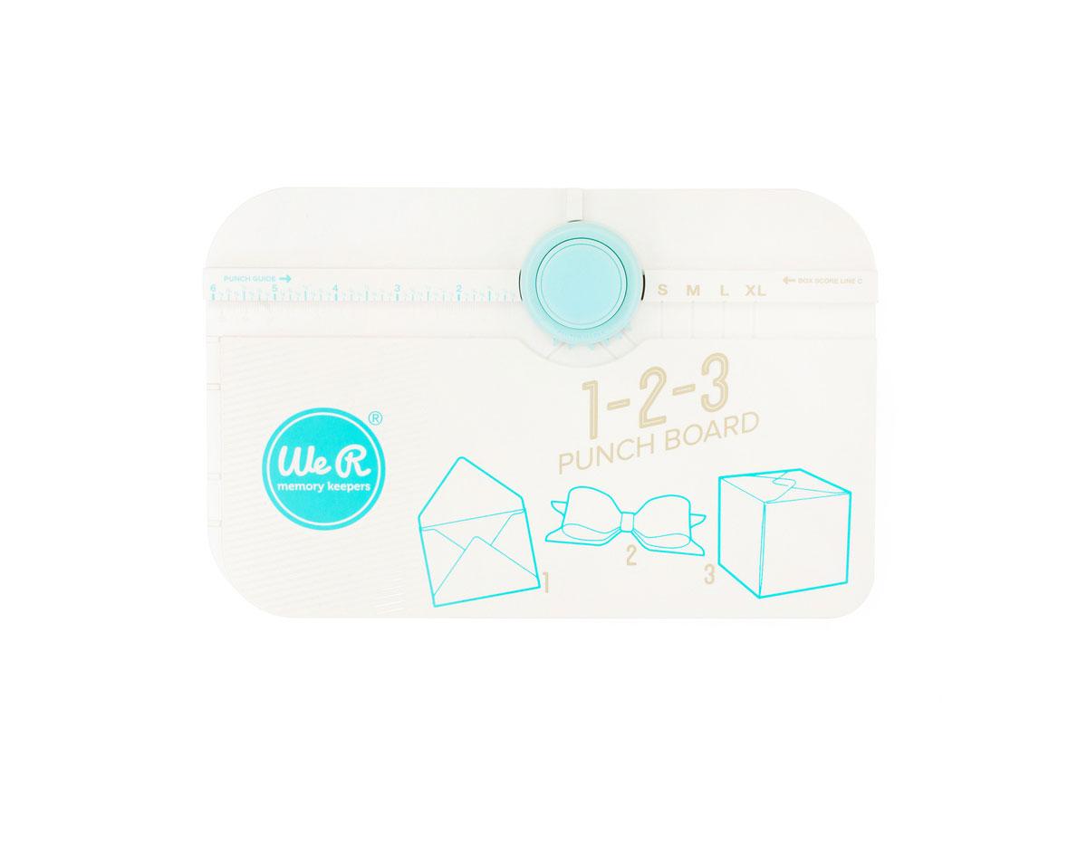 662530 Herramienta para crear sobres cajas y lazos 123 Punch Board We R Memory Keepers