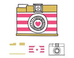 663088 Set 3 sellos por capas Camera We R Memory Keepers