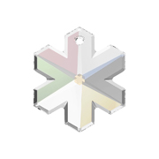 6704-001-30 01 6704-001-25 01 A6704-001-20 01 6704-001-20 01 Colgantes de cristal Snow Flake 6704 crystal AB Swarovski Autorized Retailer
