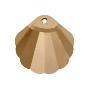 6723-001-28 16 Cuentas cristal Shell 6723 crystal golden shadow Swarovski Autorized Retailer