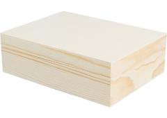 6 Caja madera de pino macizo y chapa rectangular Innspiro