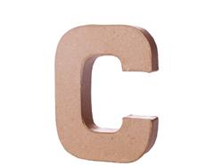 70102 Letra C papel mache con volumen Innspiro