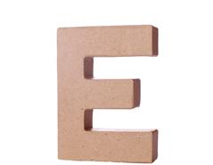 70105 Letra E papel mache con volumen Innspiro