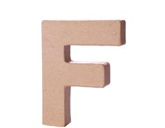 70106 Letra F papel mache con volumen Innspiro