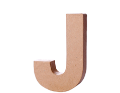70110 Letra J papel mache con volumen Innspiro