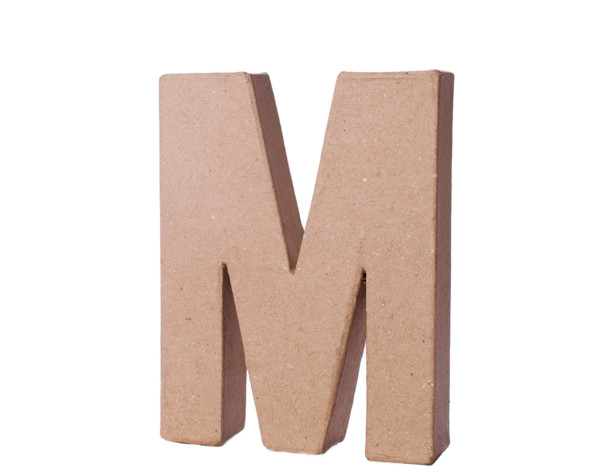 70113 Letra M papel mache con volumen Innspiro