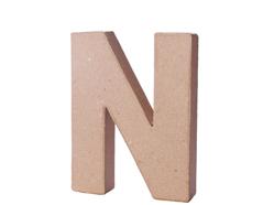 70114 Letra N papel mache con volumen Innspiro