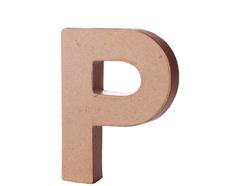 70117 Letra P papel mache con volumen Innspiro
