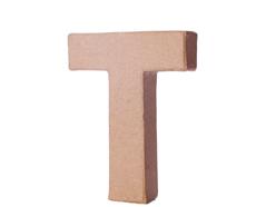 70121 Letra T papel mache con volumen Innspiro