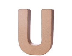 70122 Letra U papel mache con volumen Innspiro