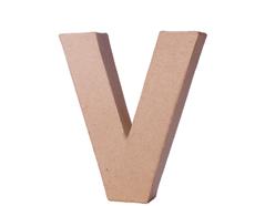 70123 Letra V papel mache con volumen Innspiro