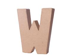 70124 Letra W papel mache con volumen Innspiro